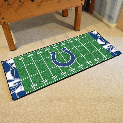 NFL Green Area Rug Team: Indianapolis Colts