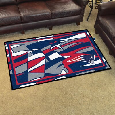 NFL Red Area Rug Team: New England Patriots