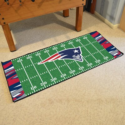 NFL Green Area Rug Team: New England Patriots