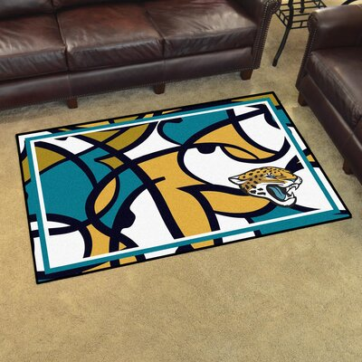 NFL Red Area Rug Team: Jacksonville Jaguars