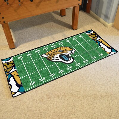 NFL Green Area Rug Team: Jacksonville Jaguars