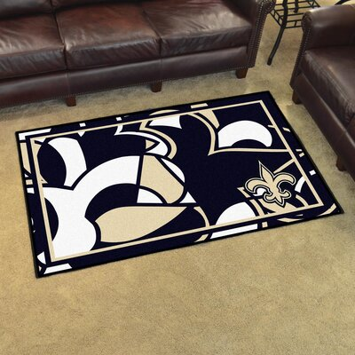 NFL Red Area Rug Team: New Orleans Saints