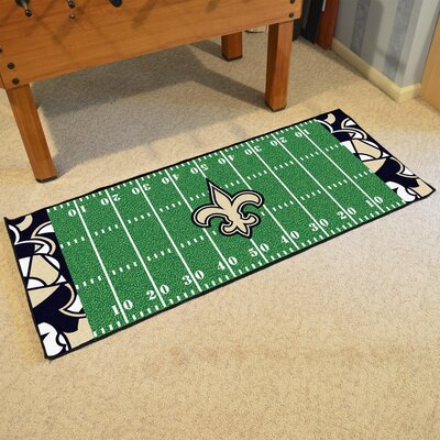 NFL Green Area Rug Team: New Orleans Saints