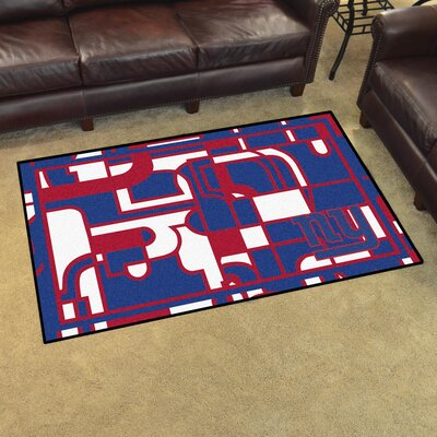 NFL Red Area Rug Team: New York Giants