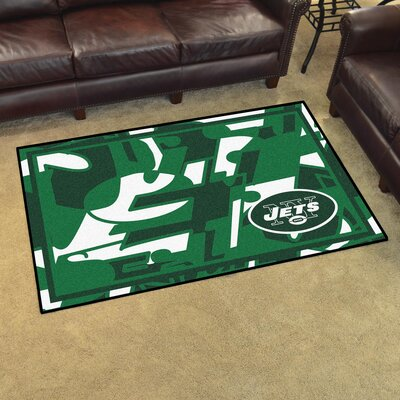 NFL Red Area Rug Team: New York Jets