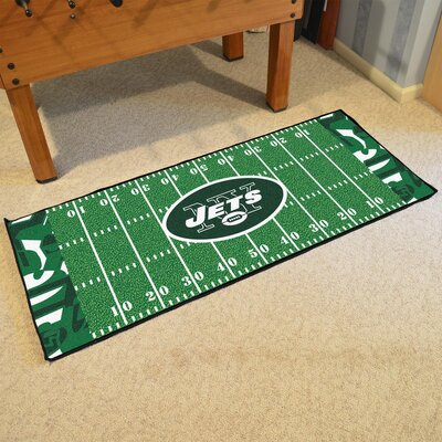 NFL Green Area Rug Team: New York Jets