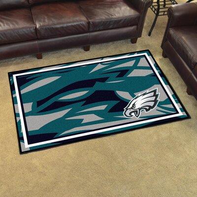 NFL Red Area Rug Team: Philadelphia Eagles