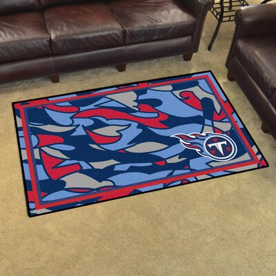 NFL Red Area Rug Team: Tennessee Titans