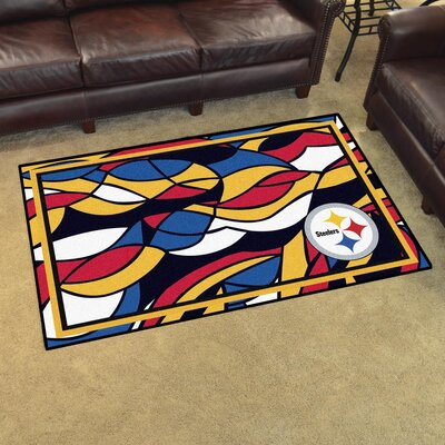 NFL Red Area Rug Team: Pittsburgh Steelers