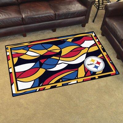 NFL Red Area Rug Team: Pittsburgh Steelers