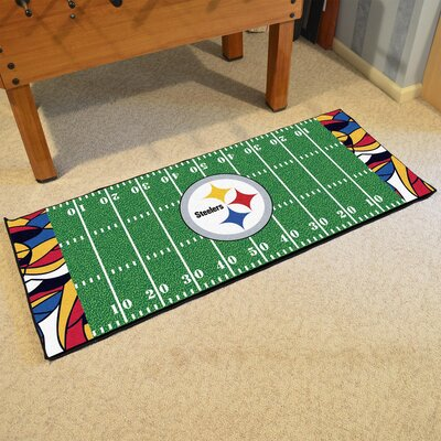 NFL Green Area Rug Team: Pittsburgh Steelers