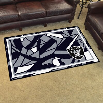 NFL Red Area Rug Team: Oakland Raiders