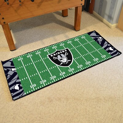 NFL Green Area Rug Team: Oakland Raiders