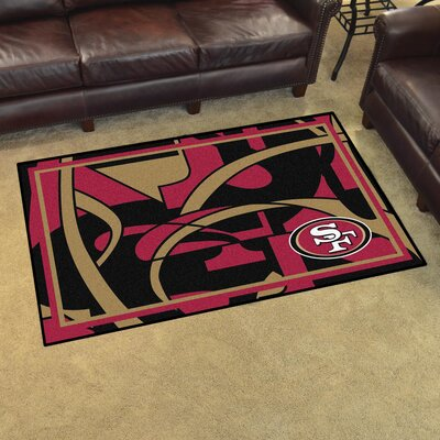NFL Red Area Rug Team: San Francisco 49ers