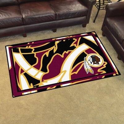NFL Red Area Rug Team: Washington Redskins