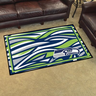 NFL Red Area Rug Team: Seattle Seahawks