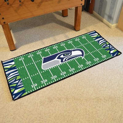 NFL Green Area Rug Team: Seattle Seahawks
