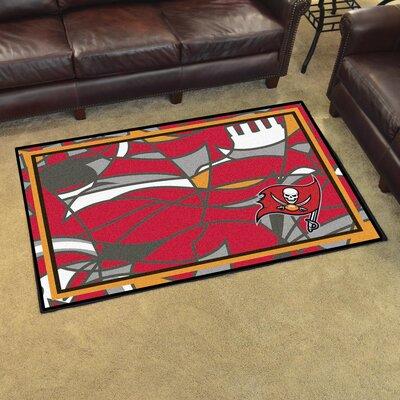 NFL Red Area Rug Team: Tampa Bay Buccaneers