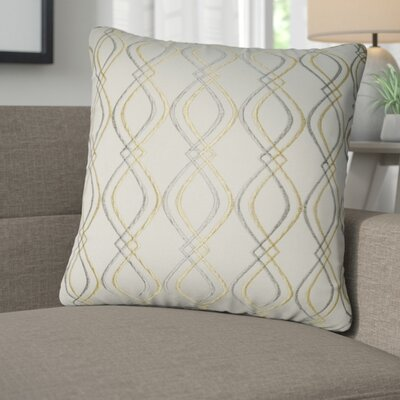 Picasso Decorative Cotton Throw Pillow Color: Linen, Taupe and Tan