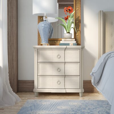 Carrie 3 Drawer Nightstand Color: White