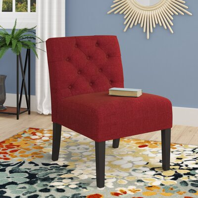 Lashbrook Slipper Chair Upholstery: Dark Red