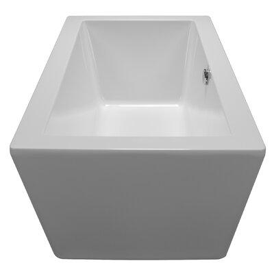 59 x 32 Freestanding Soaking Bathtub