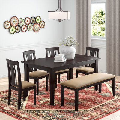 Oneill Modern 6 Piece Wood Dining Set