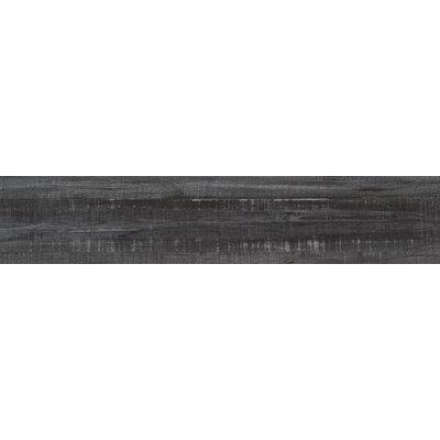 Belmond Obsidian 8 x 40 Ceramic Wood Look Tile in Black
