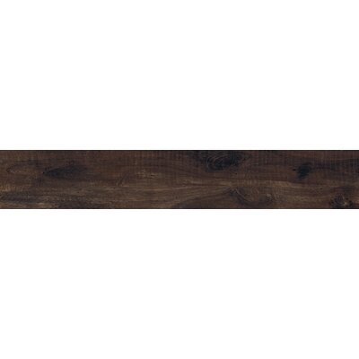 Country River Bark 8 x 48 Porcelain Wood Look Tile in Brown