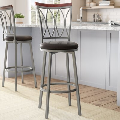 Wadsworth 29 Swivel Bar Stool Upholstery: Espresso