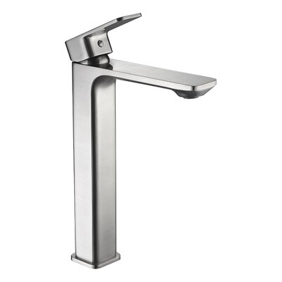 Vibra Single Hole Single Handle Bathroom Faucet with Drain Assembly Finish: Brushed Nickel