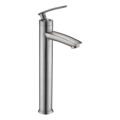 Fifth Single Hole Single Handle Bathroom Faucet with Drain Assembly Finish: Brushed Nickel