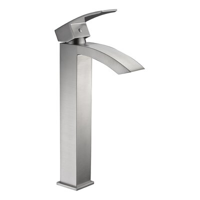 Tutti Single Hole Single Handle Bathroom Faucet with Drain Assembly Finish: Brushed Nickel