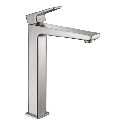 Valor Single Hole Single Handle Bathroom Faucet with Drain Assembly Finish: Brushed Nickel