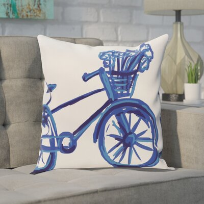 Chesser Outdoor Throw Pillow Color: Dazzling Blue, Size: 18 H x 18 W x 1 D