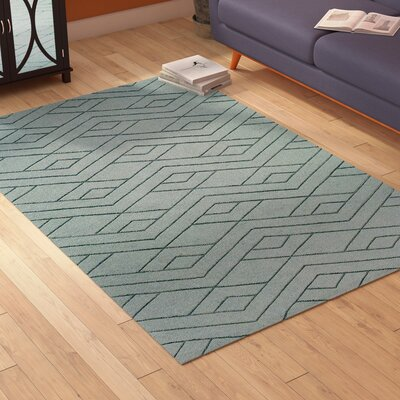 Julian Hand-Woven Medium Gray Area Rug Rug Size: Rectangle 8 x 10