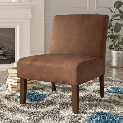 Baronets Slipper Chair Upholstery: Chocolate Velvet
