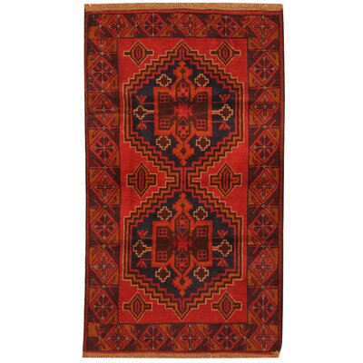 One-of-a-Kind Ebron Hand-Knotted Wool Red/Brown Area Rug