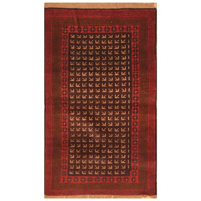 One-of-a-Kind Ebron Hand-Knotted Wool Brown/Red Area Rug