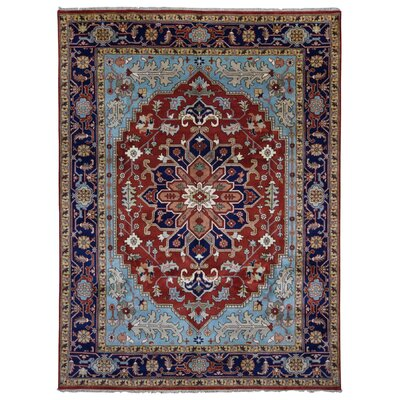 One-of-a-Kind Etchison Oriental Hand Woven Wool Red/Blue Area Rug Rug Size: Rectangle 9'1