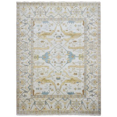 One-of-a-Kind Maribel Oriental Hand Woven Wool Beige Area Rug