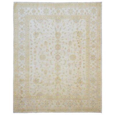 One-of-a-Kind Maribel Oriental Hand Woven Wool Beige Area Rug