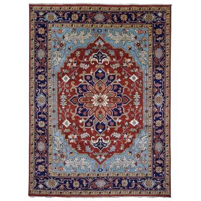 One-of-a-Kind Etchison Oriental Hand Woven Wool Red/Blue Area Rug Rug Size: Rectangle 9'2