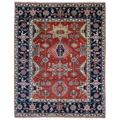 One-of-a-Kind Etchison Oriental Hand Woven Wool Red/Black Area Rug