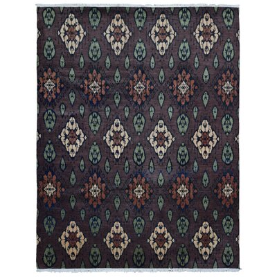 One-of-a-Kind Cimino Turkish Oriental Hand Woven Wool Purple/Green Area Rug