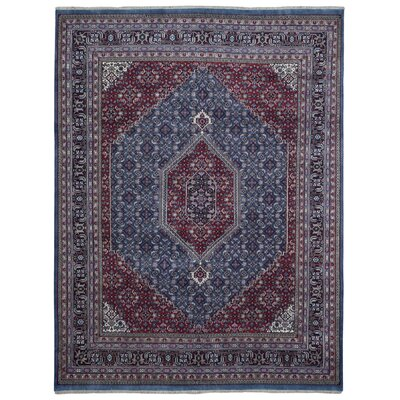 One-of-a-Kind Liddle Oriental Hand Woven Wool Red/Blue Area Rug