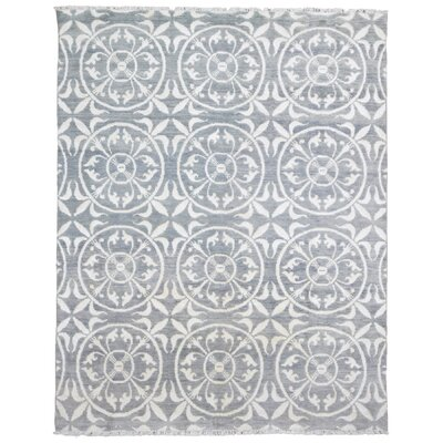 One-of-a-Kind Maribel Turkish Oriental Hand Woven Wool Blue/Gray/Beige Area Rug