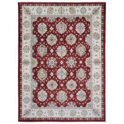 One-of-a-Kind Maribel Oriental Hand Woven Wool Red/Beige Area Rug