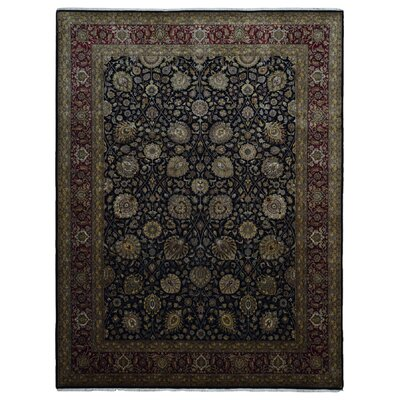 One-of-a-Kind Maribel Oriental Hand Woven Wool Black/Red Area Rug