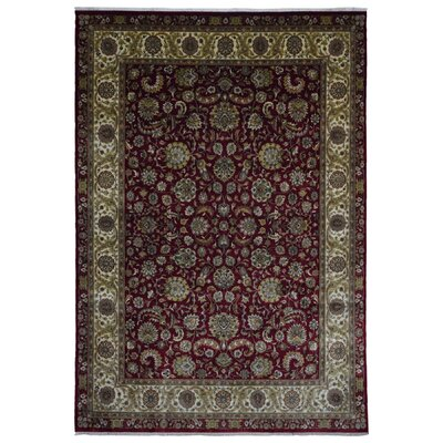 One-of-a-Kind Liddle Oriental Hand Woven Wool Red/Beige Area Rug